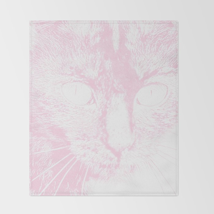 Fluffy's Eyes Drawing Pale Pink Throw Blanket By Dparker Society40 Awesome Pale Pink Throw Blanket