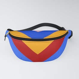 Cheer Arrows Red Yellow Blue Chevrons  Fanny Pack