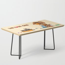 Rabbit catlover Coffee Table