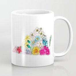 Hand Painted Virginia State Map Coffee Mug