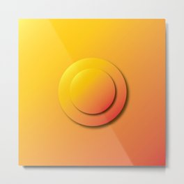 Ripe Orange Button - Gradient Bullet Point Metal Print