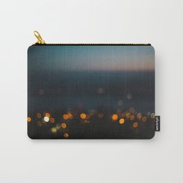 Night-time bokeh blurred out of focus city lights at sunset Carry-All Pouch