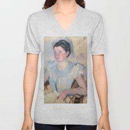 Mary Cassatt - Buste de femme en corsage blanc Unisex V-Neck