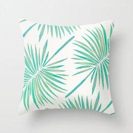 Tropical Fan Palm – Mint Palette Throw Pillow