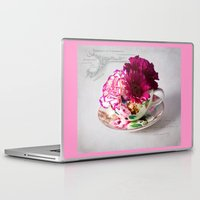 shabby chic Laptop & iPad Skins featuring Shabby chic floral by inkedsandra