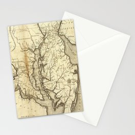 Vintage Map of Maryland (1796) Stationery Cards