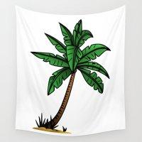 palm tree Wall Tapestries featuring palm tree by Li-Bro