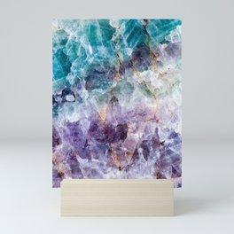 Turquoise & Purple Quartz Crystal Mini Art Print