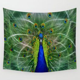 Peacock dreamcatcher Wall Tapestry