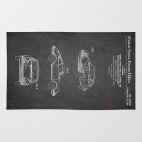 porsche Area & Throw Rugs featuring Porsche 911 by Patent Prints