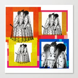 QUEEN ELIZABETH THE FIRST, 4-UP POP ART COLLAGE Canvas Print