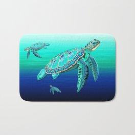 Sea Turtle Turquoise Oceanlife Bath Mat
