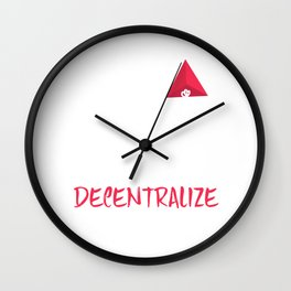 Decentralize All The Things Blockchain Technology Wall Clock