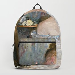 Berthe Morisot - Woman at Her Toilette - Digital Remastered Edition Backpack
