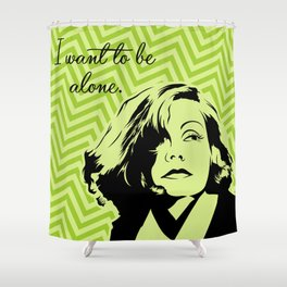 Let me alone! Shower Curtain