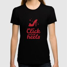 Click Your Heels Black Womens Fitted Tee X-LARGE