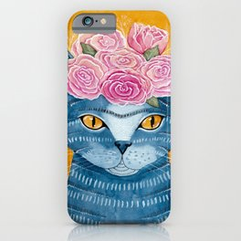 Frida Catlo in Blue iPhone Case