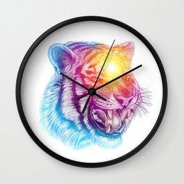 Animal III - Colorful Tiger Wall Clock