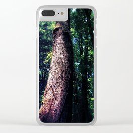 Tree Trunk Clear iPhone Case