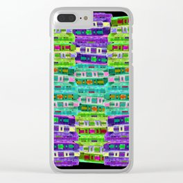 Fluoro Cassette Stacks Clear iPhone Case