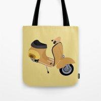 vespa Tote Bags featuring Vespa by Fabian Bross