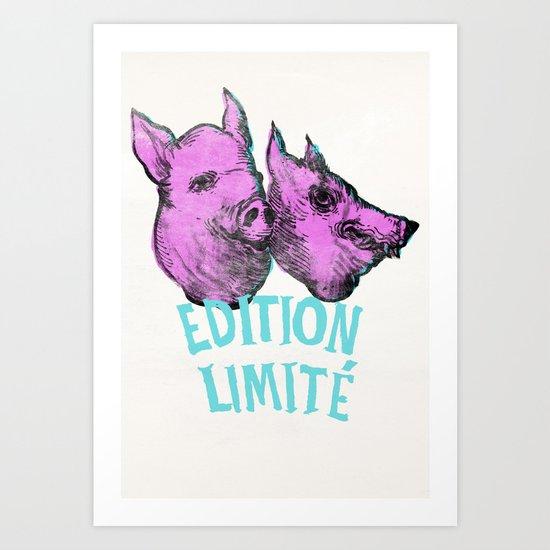 pig et wolf Art Print