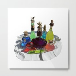 Wizard's Potions Metal Print