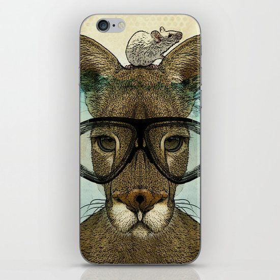 Skuba Roo and a white mouse iPhone & iPod Skin