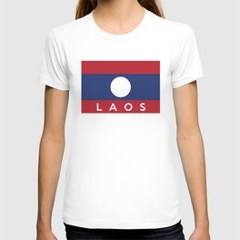 flag of laos T-shirt