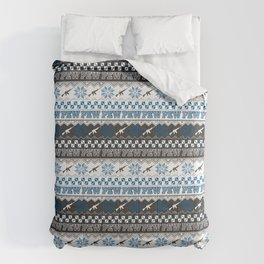Pew Pew Gun Ugly Christmas Sweater Pattern Comforters