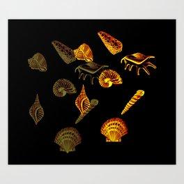 Blue Shells Art Print