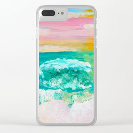 Pink Sand Sunset Clear iPhone Case