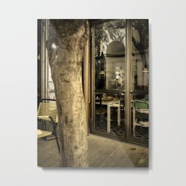 Art is everywhere ! Firenze Italy restaurant Metal Print