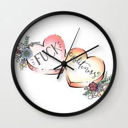 F Politeness Wall Clock