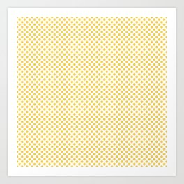 Primrose Yellow Polka Dots Art Print