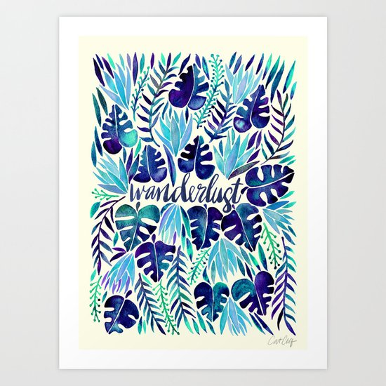 Tropical Wanderlust – Blue by catcoq