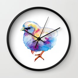 White Chick Wall Clock