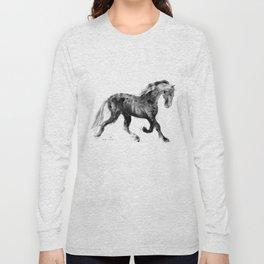 Horse (Friesian Colt) Long Sleeve T-shirt