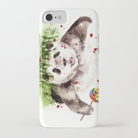 panda iPhone & iPod Cases featuring Panda by Anna Shell