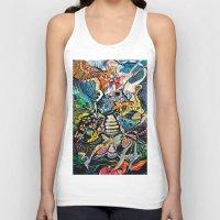phoenix Tank Tops featuring Phoenix by Dawn Patel Art