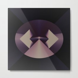 Violetly Simple Metal Print