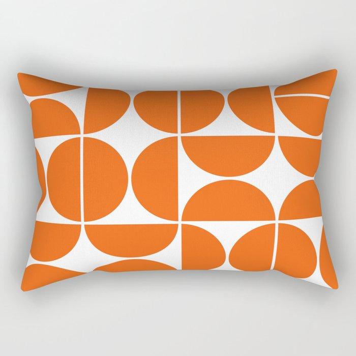 Mid Century Modern Geometric 04 Orange Rechteckiges Kissen