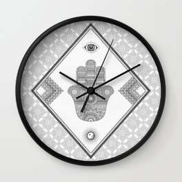 A Blessing (Glitter Grey) Wall Clock