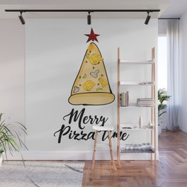 Merry Pizza Christmas time Wall Mural