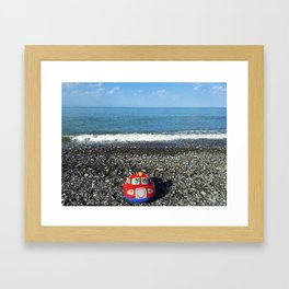 Postcard from the sea Framed Art Print