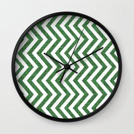 Canadian Wildlife Chevron Emerald Wall Clock