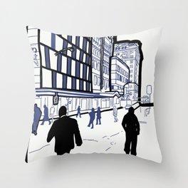 Edward Street - Brisbane, Australia Throw Pillow