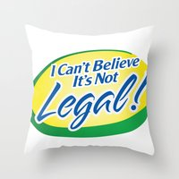 cannabis Throw Pillows featuring Legalize Cannabis by WeedPornDaily