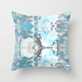 Sea Spray Pattern - Casart Sea Life Treasures Collection Throw Pillow