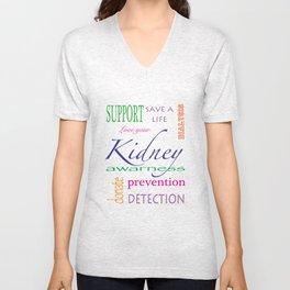 kidney awareness Unisex V-Neck